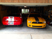 Garage au Texas 2007 GT500 2013 Boss 302 LS 18.jpg